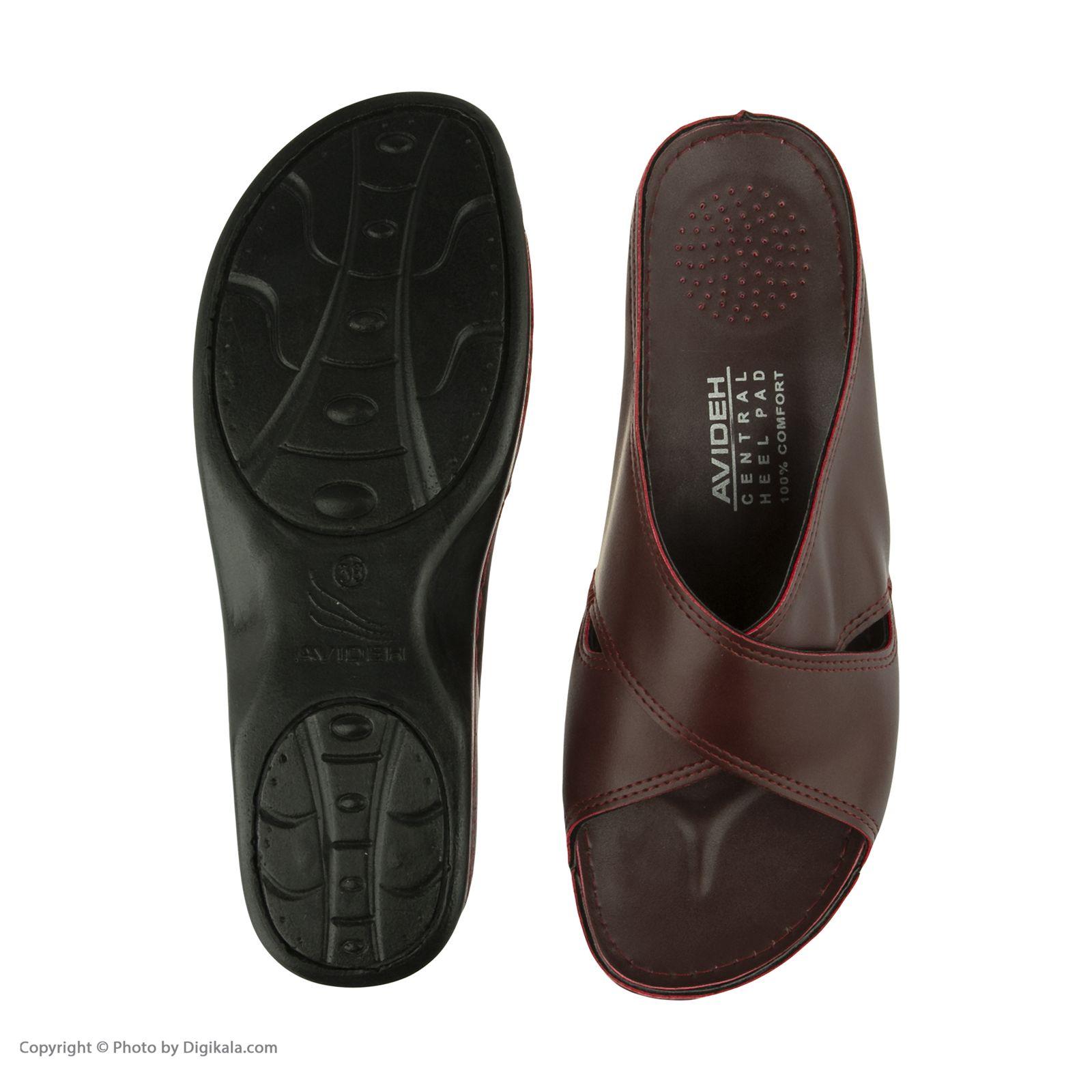 دمپایی زنانه کفش آویده کد av-0304505 رنگ زرشکی -  - 7