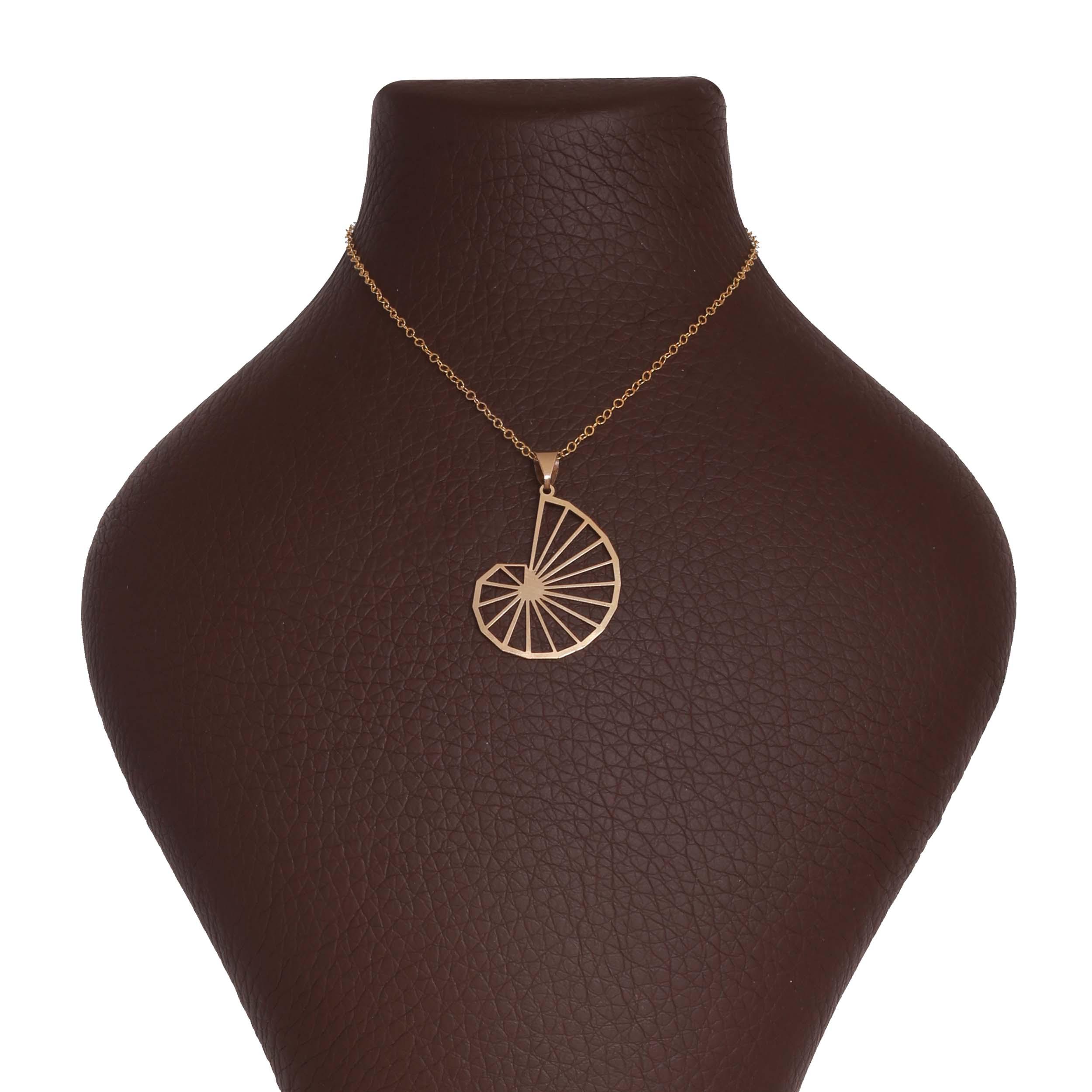 گردنبند طلا 18 عیار زنانه آمانژ طرح اسپیرال کد 1144D9068