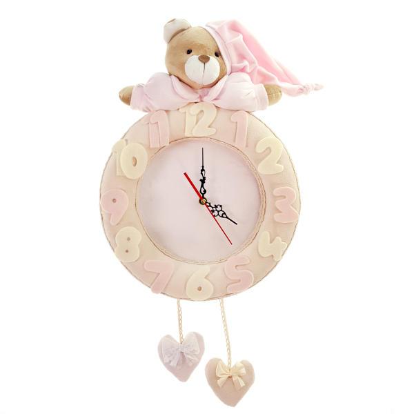 ساعت دیواری کودک نی نی سیس مدل خرس نانان کد W-N/P