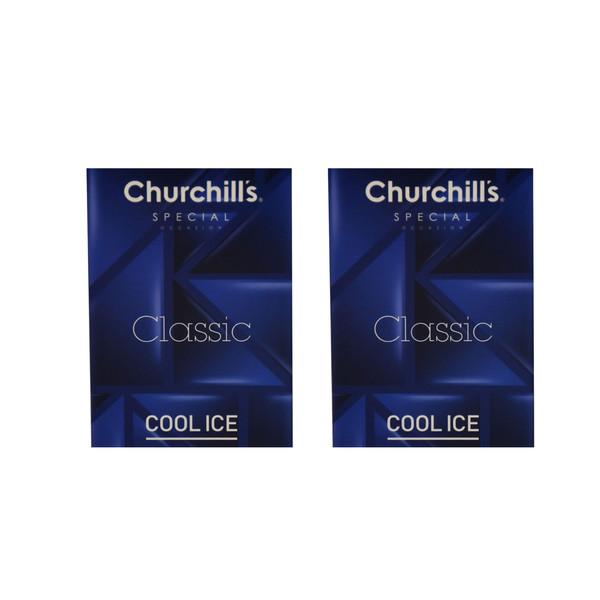 کاندوم چرچیلز مدل Classic Cool Ice مجموعه 2 عددی
