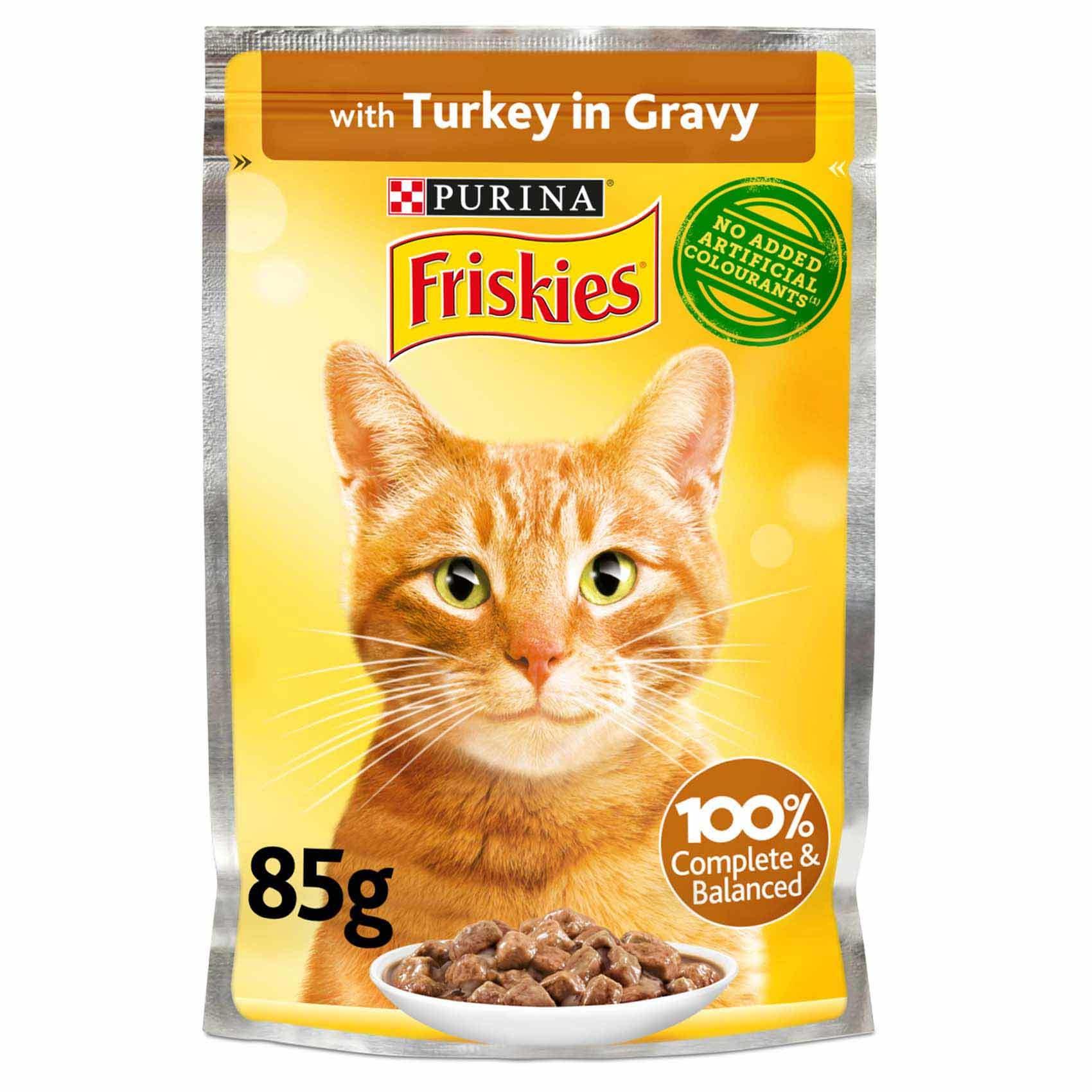 غذای پوچ گربه فریس کیز مدل turkey in gravy وزن 85 گرم