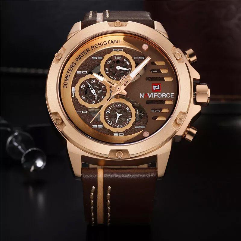 ساعت مچی عقربه ای مردانهنیوی فورس  مدل 10-91 -  - 4