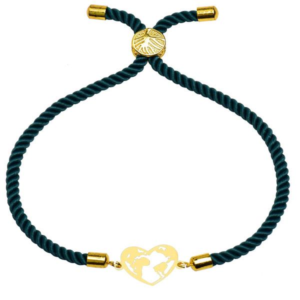 دستبند زنانه کرابو طرح کره زمین و قلب مدل kb22-53