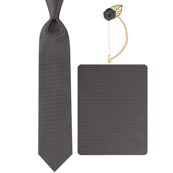 ست کراوات و دستمال جیب و دکمه سردست مردانه جیان فرانکو روسی مدل GF-PO1000-BK
