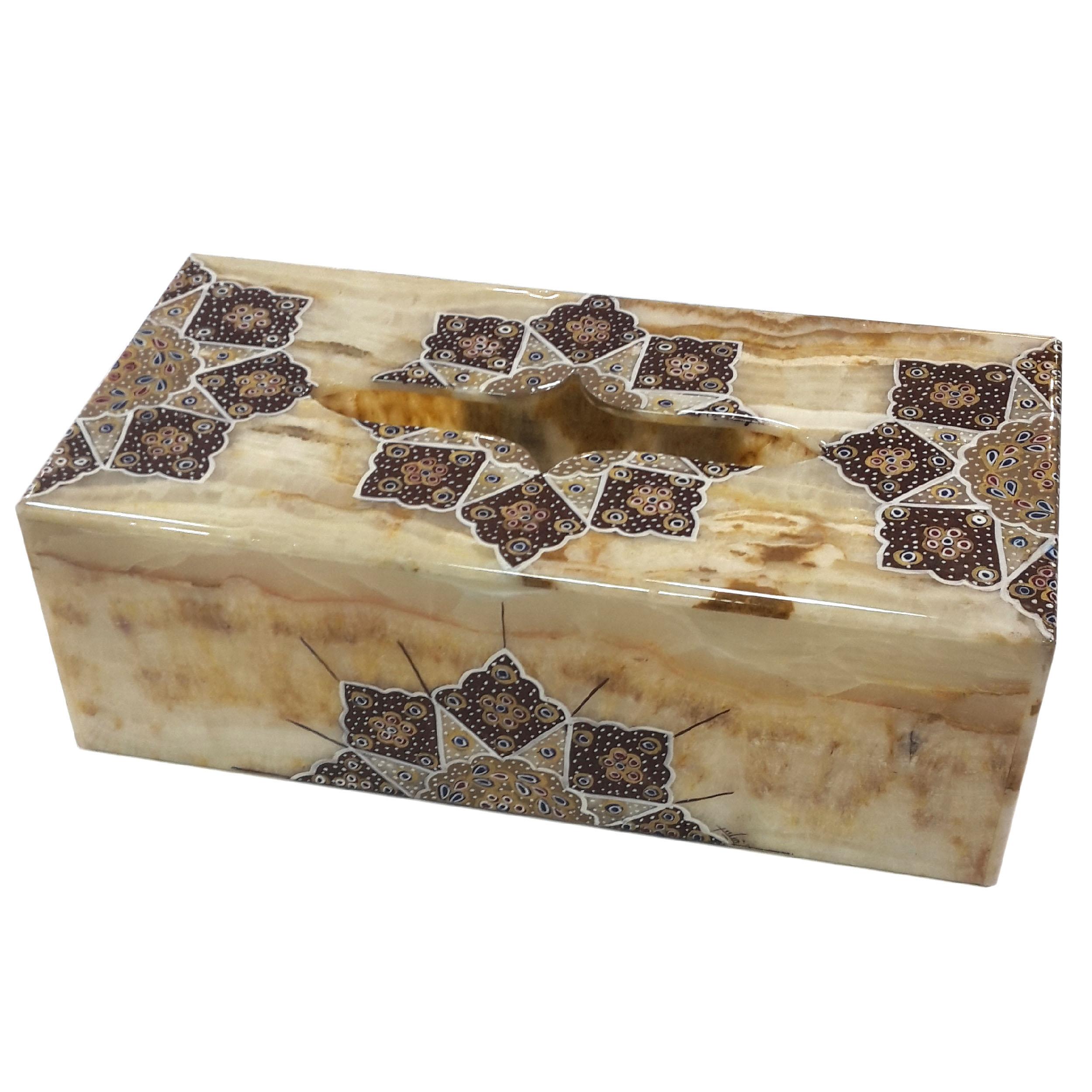 جعبه دستمال کاغذی سنگ مرمر طرح هشت پر کد0097