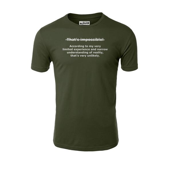 تیشرت آستین کوتاه مردانه فانتازیو مدل 241 طرح Impossible کد SBM100