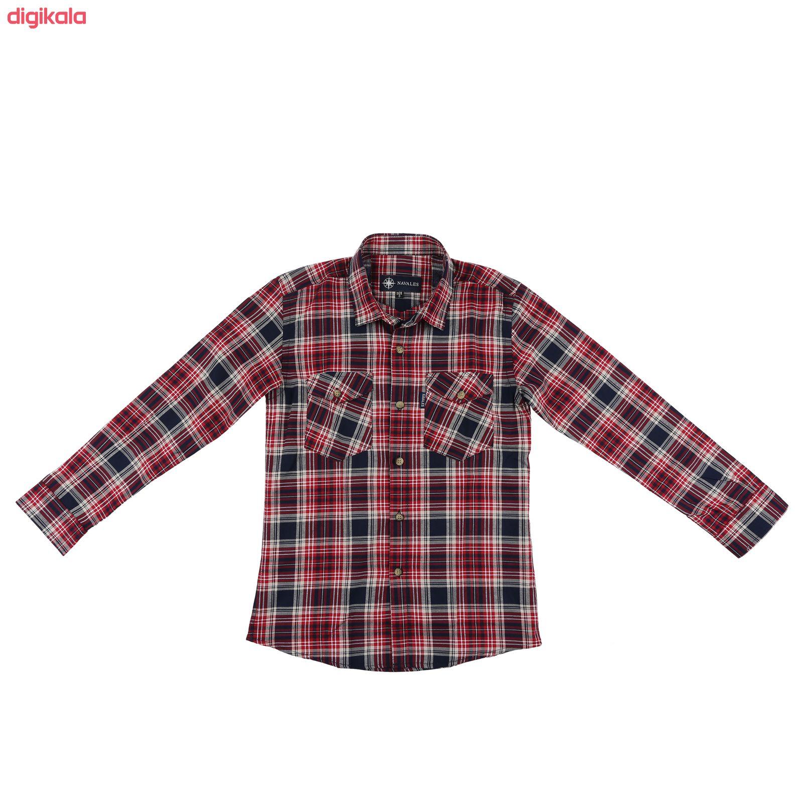 پیراهن پسرانه ناوالس کد R-20119-RD main 1 1