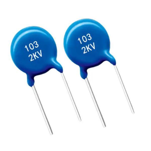 خازن پلی استر10 نانوفاراد مدل 103K-2kV بسته دو عددی
