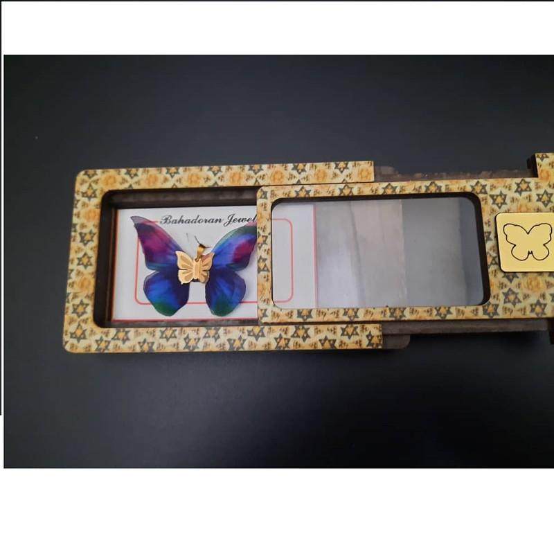 آویز گردنبند طلا 18 عیار زنانه گالری یارطلا مدل پروانه کد AP04