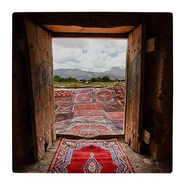 کاشی کارنیلا طرح فرش های ایرانی و خانه روستایی کد wk1325