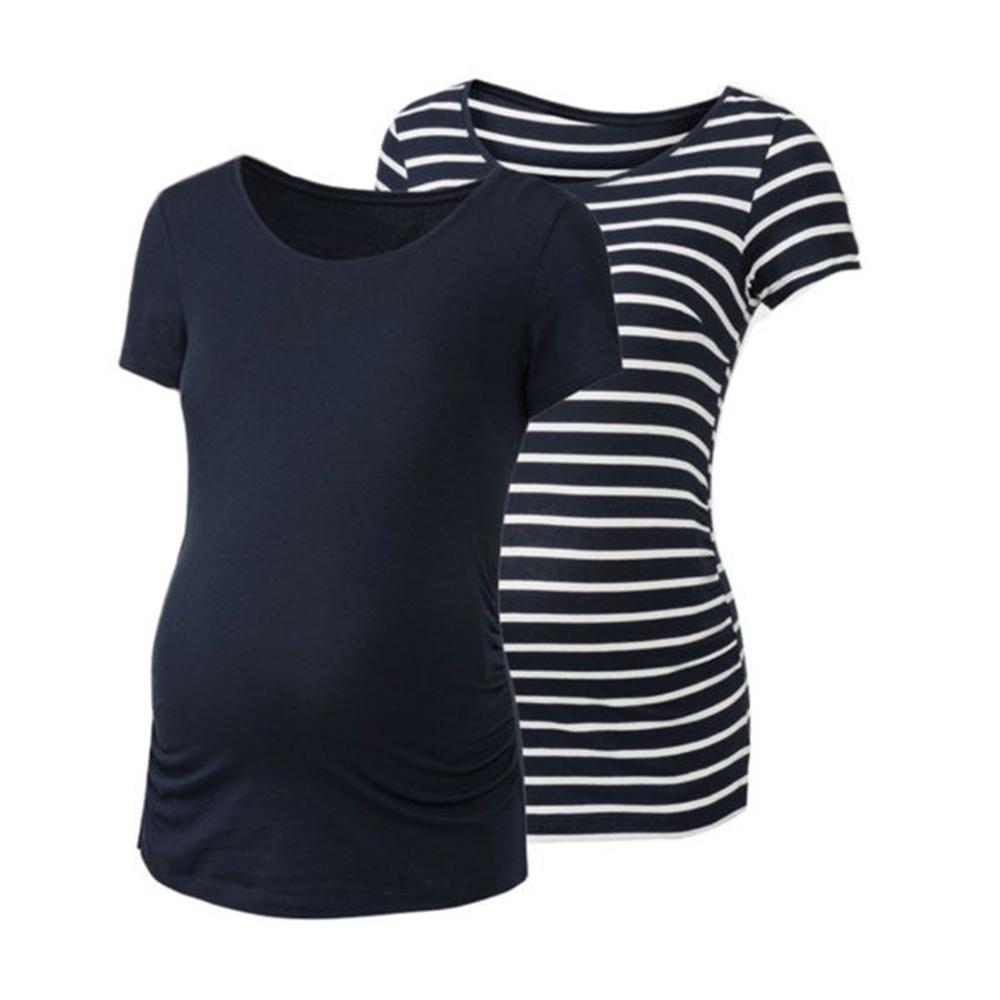 تی شرت بارداری اسمارا مدل 307896 مجموعه 2عددی