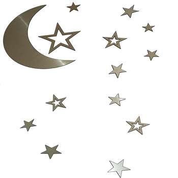 آینه طرح ماه و ستاره کد 1503