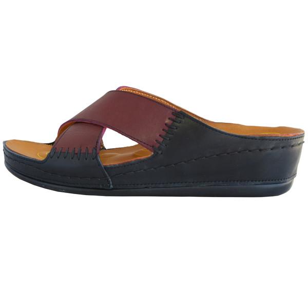 دمپایی زنانه کفش آداک کد 206 رنگ زرشکی