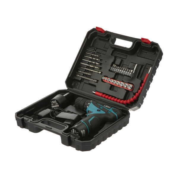 مجموعه 45 عددی دریل پیچ گوشتی شارژی آیمکس مدل VXP-301
