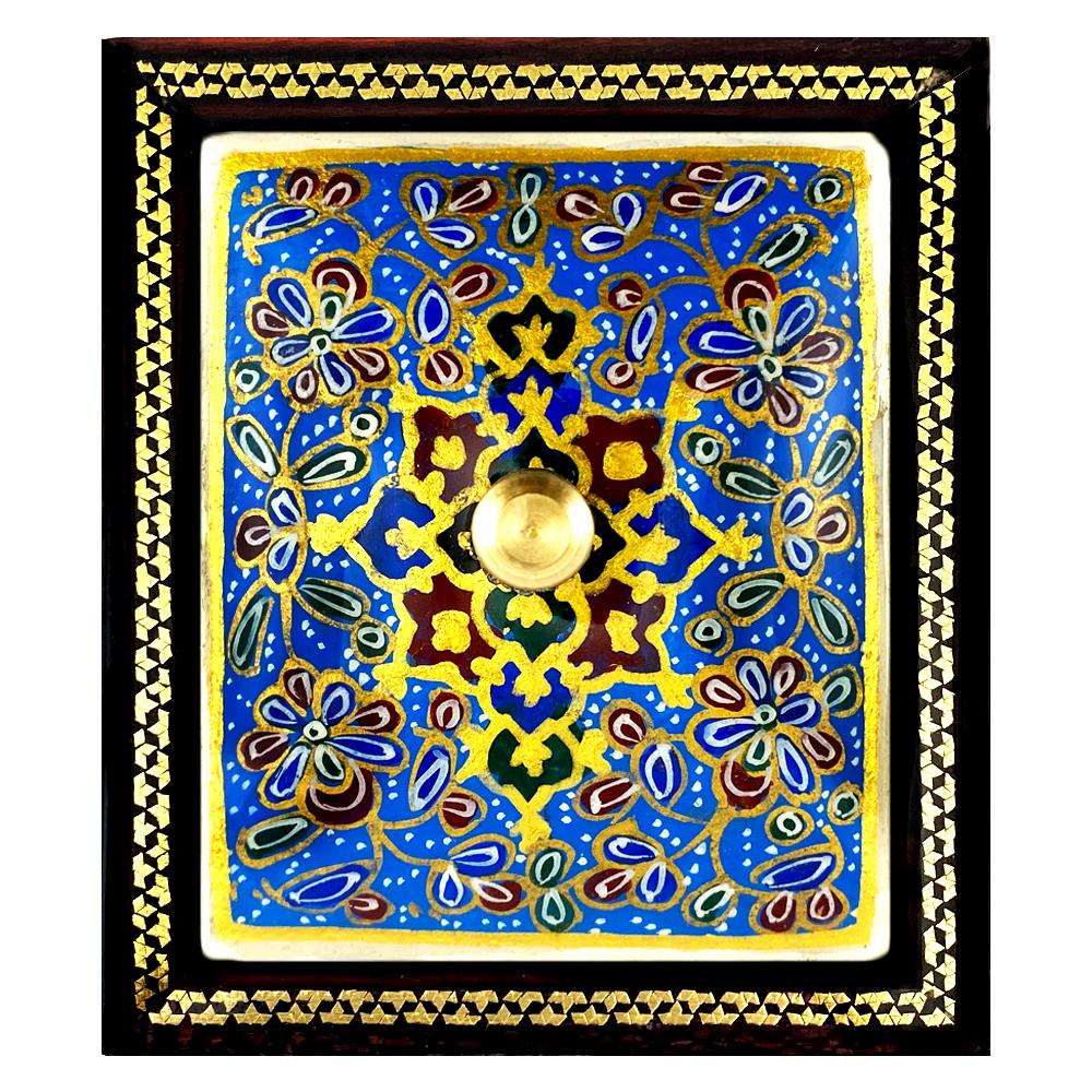 جعبه جواهرات خاتم کاری سعید آرا طرح تذهیب مدل ونون کد A1