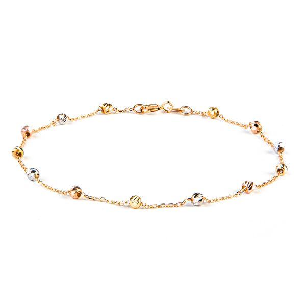 دستبند طلا زنانه ریسه گالری مدل 1312