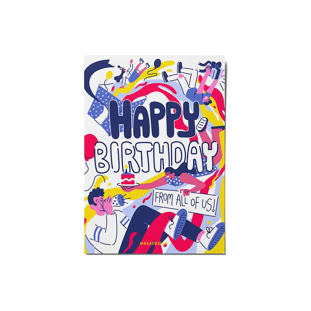 کارت پستال ماسا دیزاین مدل stkv0540 تولد