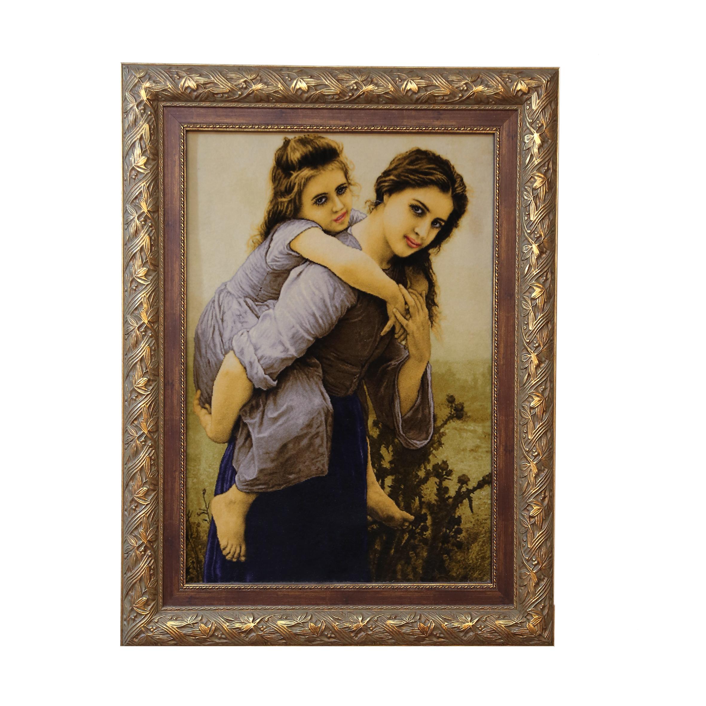 تابلو فرش دستباف طرح مهر مادر کد 990709