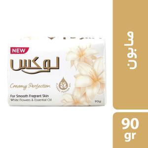صابون شستشو لوکس مدل گل های سفید وزن 90 گرم بسته 6 عددی