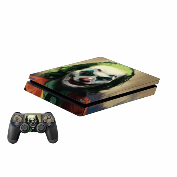 برچسب پلی استیشن 4 اسلیم پلی اینفینی مدل Joker 09 به همراه برچسب دسته