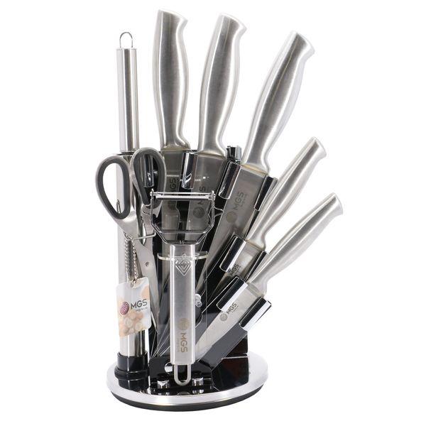 سرویس چاقو اشپزخانه 9 پارچه ام جی اس مدل 4440
