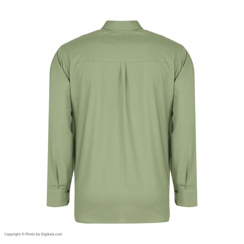 پیراهن آستین بلند مردانه گری مدل A10