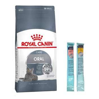 غذای خشک گربه رویال کنین مدل Oral Care وزن 1.5 کیلوگرم به همراه بستنی