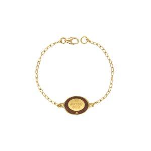 دستبند طلا 18 عیار دخترانه مدل وان یکاد A0009