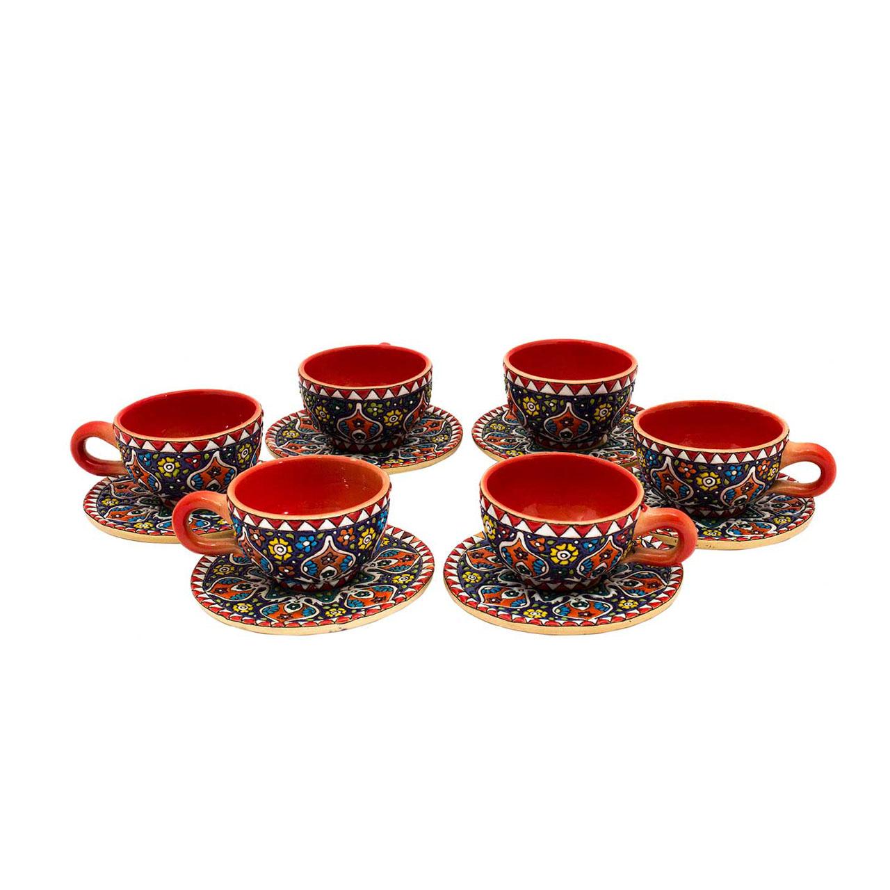 سرویس چای خوری میناکاری 12 پارچه کد 15-15-119