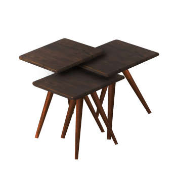 میز عسلی مدل 123 کد 07 مجموعه 3 عددی