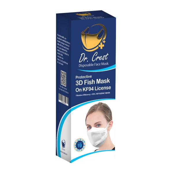 ماسک تنفسی دکتر کرست مدل Drc-3D-25 بسته 25 عددی