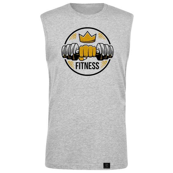تاپ مردانه 27 مدل Fitness کد B11 رنگ طوسی