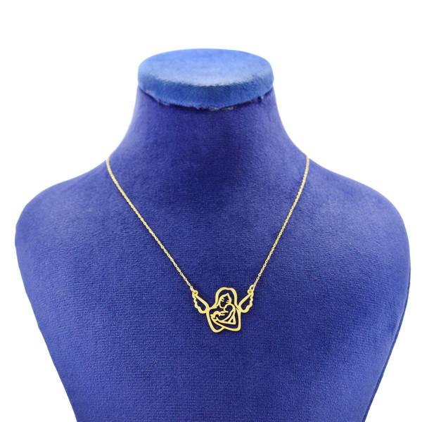 گردنبند طلا 18 عیار زنانه کانیار گالری طرح مادر مدل NE105