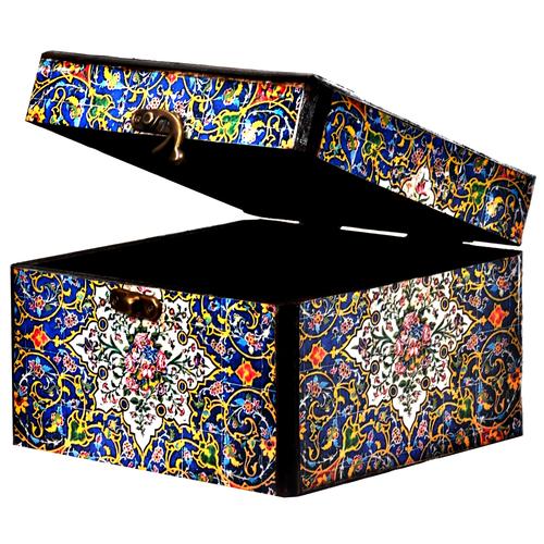 جعبه هدیه چوبی طرح گلبرگ کد 01