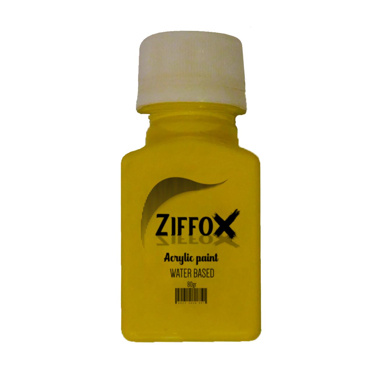 رنگ اکریلیک زیفوکس کد H1 حجم ۶۰ میلی لیتر