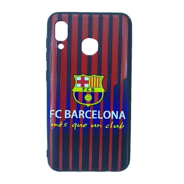 کاور طرح بارسلونا مدل mf1212 مناسب برای گوشی موبایل سامسونگ Galaxy A30