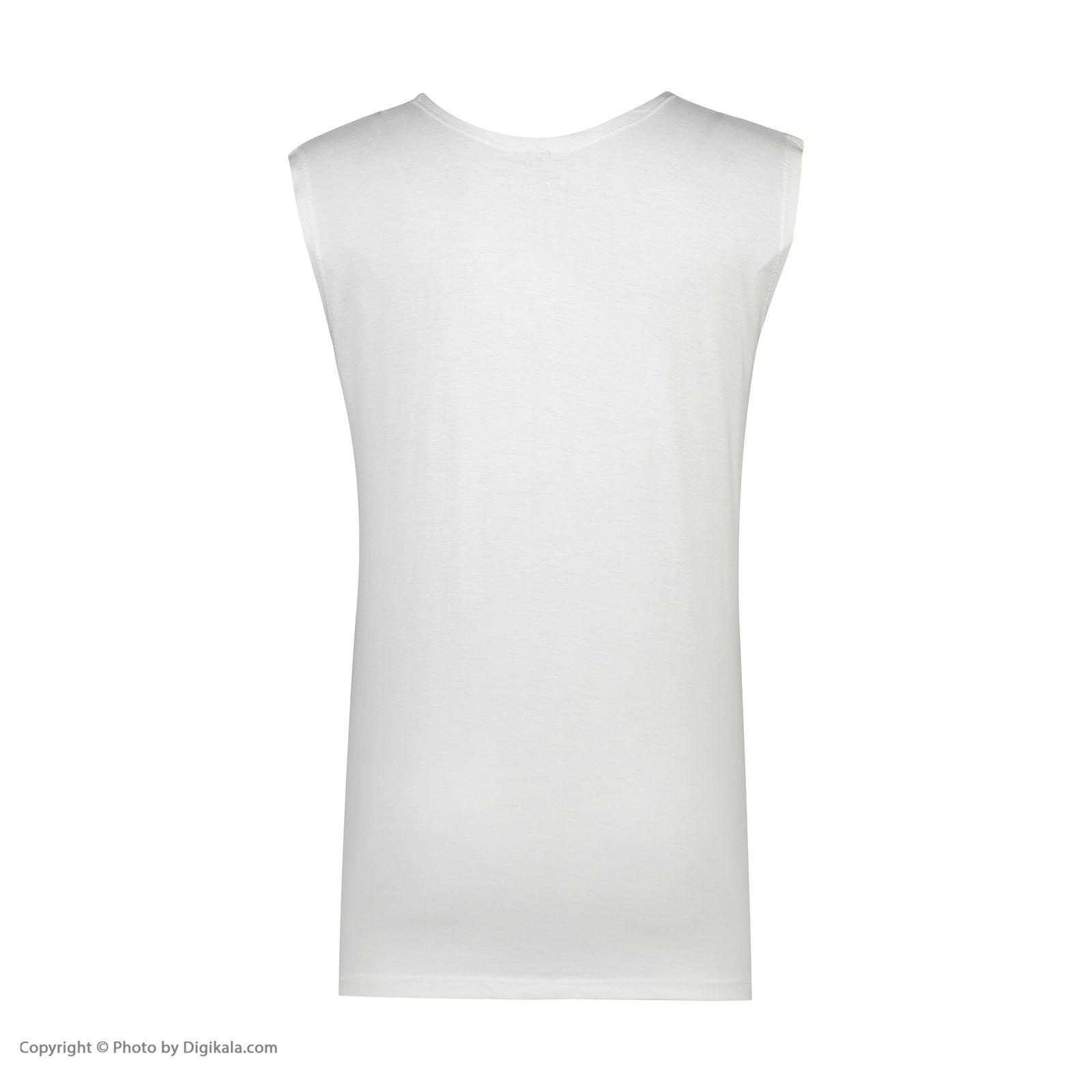 ست تاپ و شلوارک زنانه فمیلی ور طرح خرسی کد 0221 رنگ سفید -  - 9