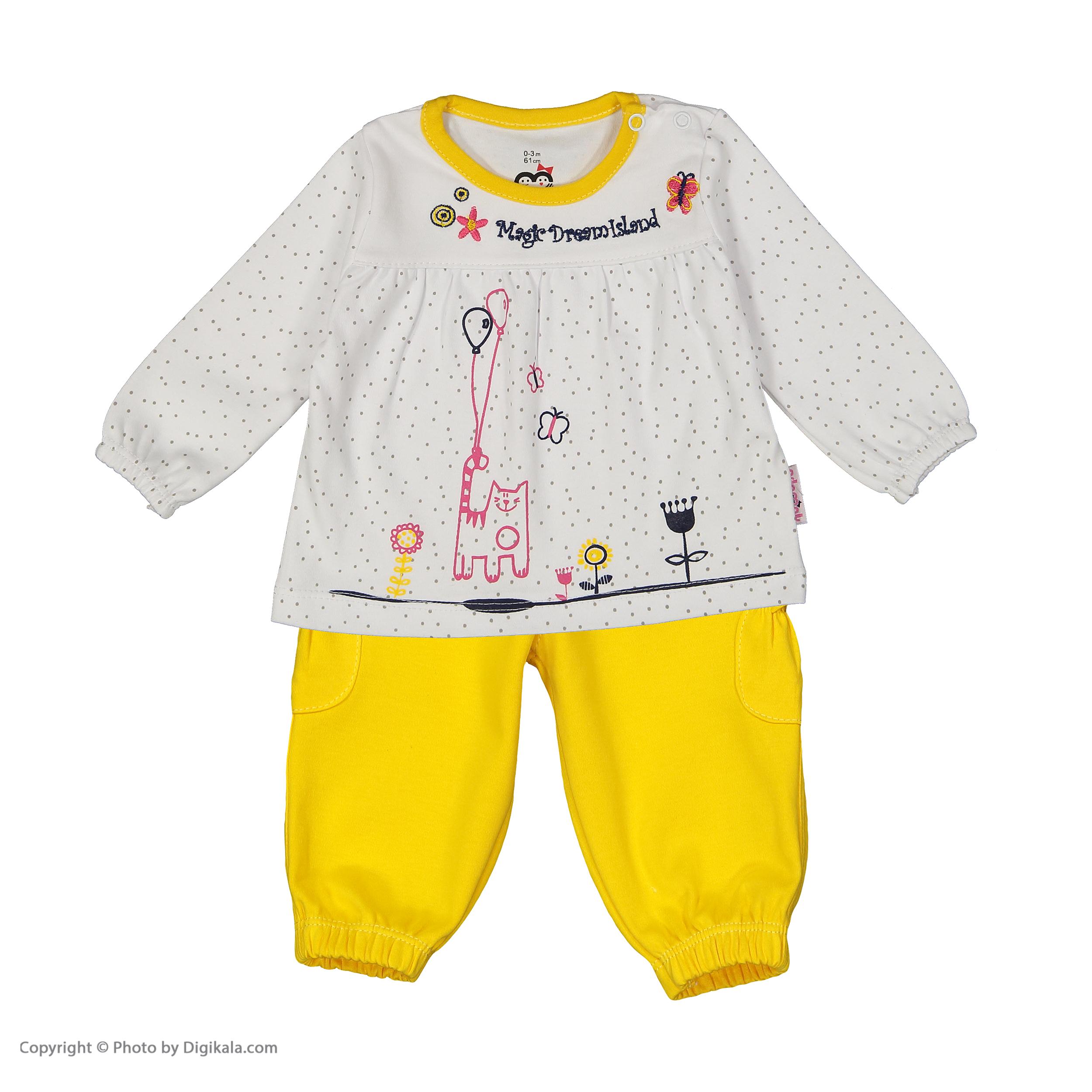 ست تی شرت و شلوار دخترانه آدمک مدل 2171146-19 main 1 1