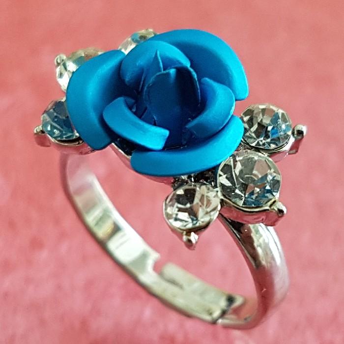 انگشتر دخترانه مدل گل رز کد p70