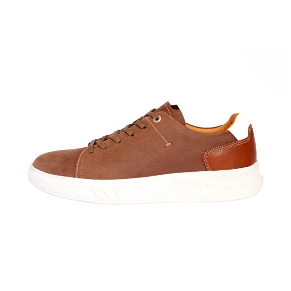 کفش روزمره مردانه ساینا چرم مدل M110 BROWN