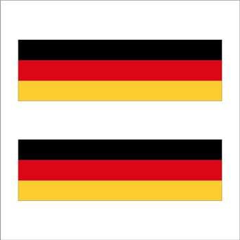 برچسب پارکابی خودرو طرح پرچم آلمان کد GE2 بسته 2 عددی