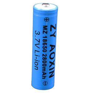 باتری لیتیوم یون قابل شارژ کد 18650 ظرفیت 2800 میلی آمپر ساعت