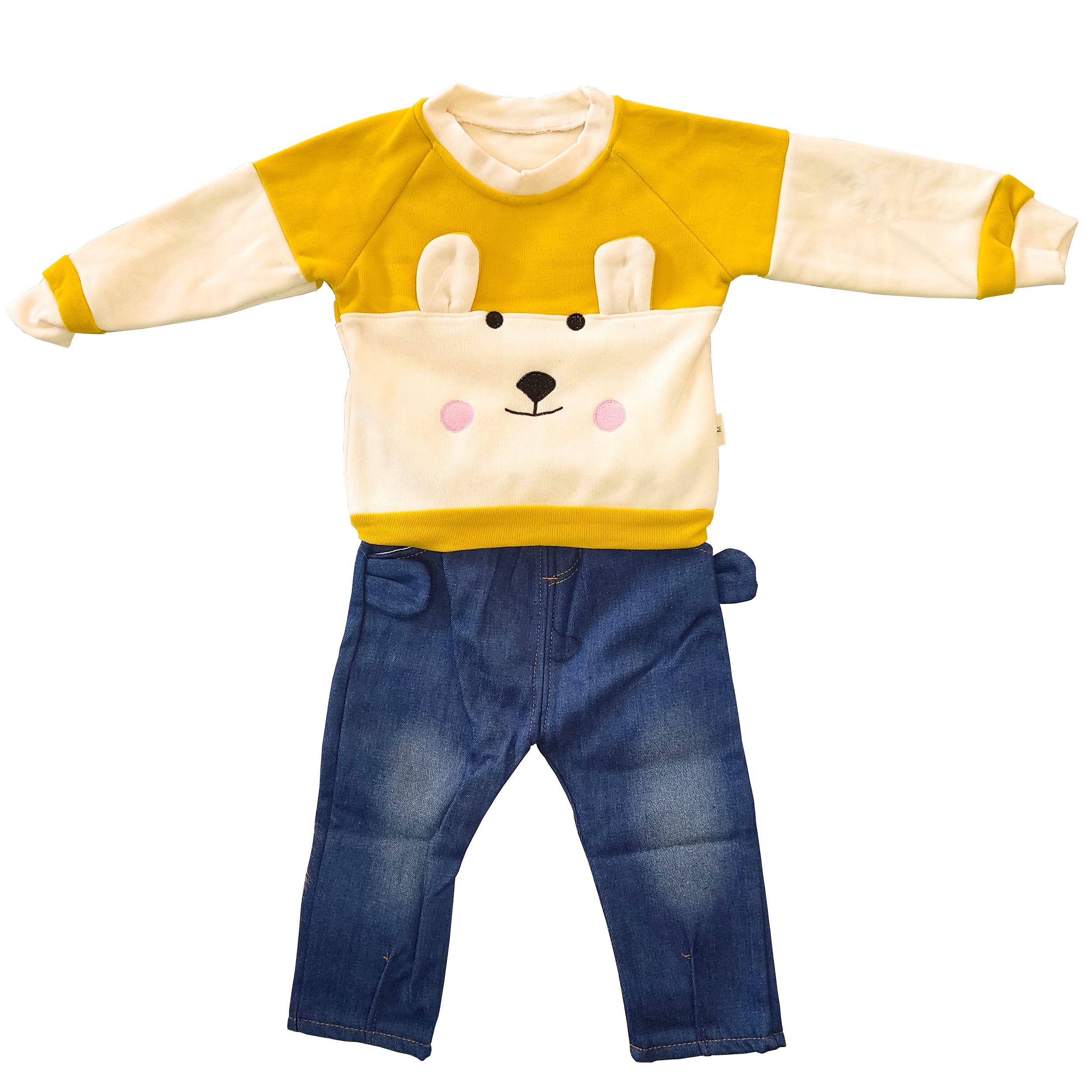 ست سویشرت و شلوار پسرانه مدل عروسکی کد 0021