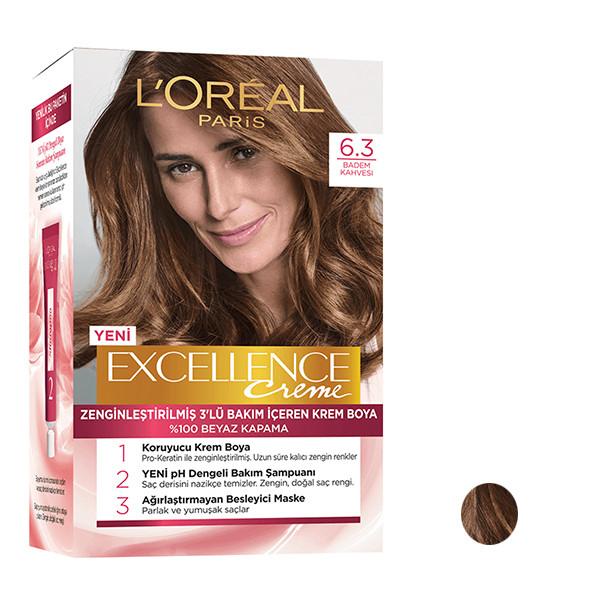کیت رنگ مو لورآل مدل Excellence شماره 6.3