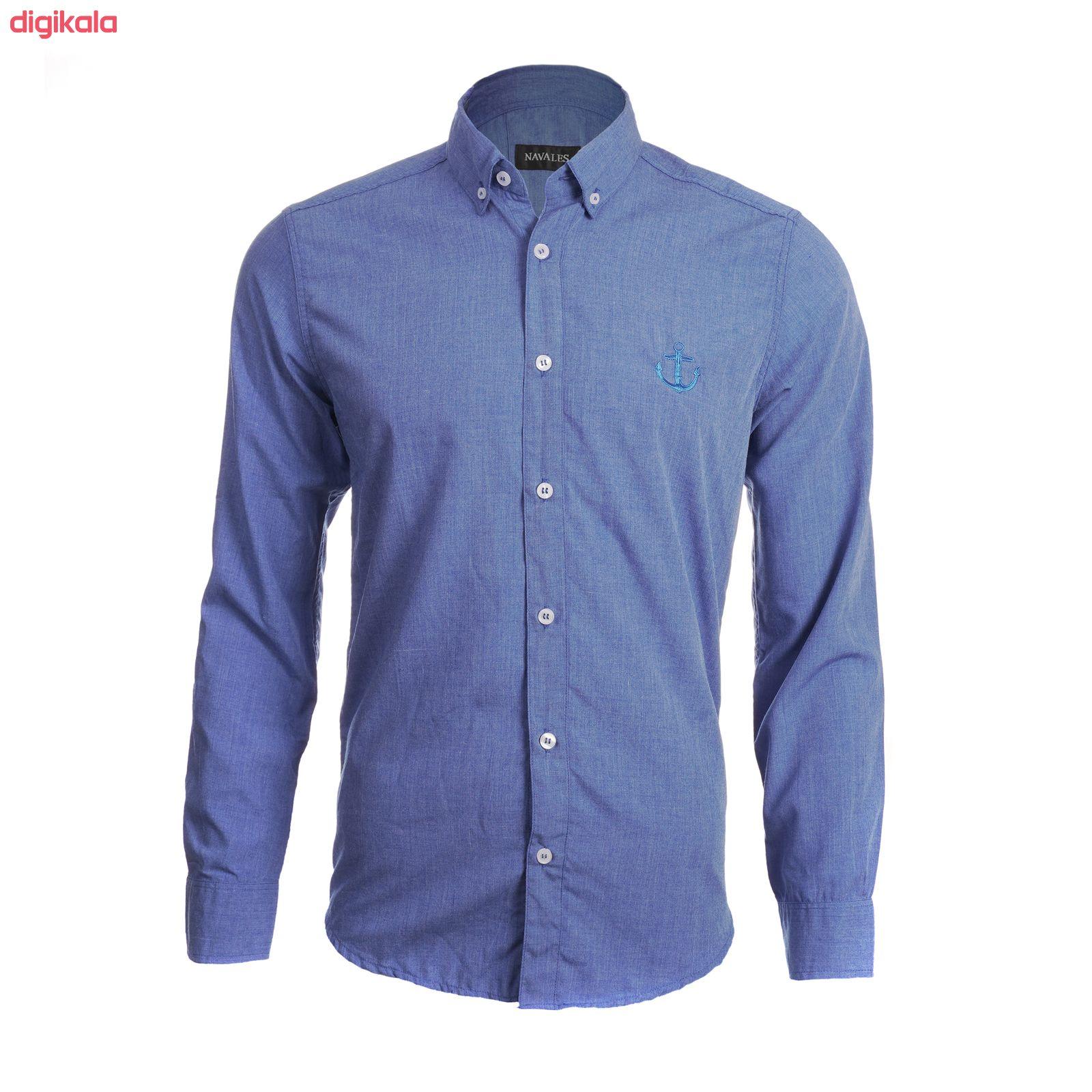 پیراهن آستین بلند مردانه ناوالس مدل MLANZH-BL main 1 2