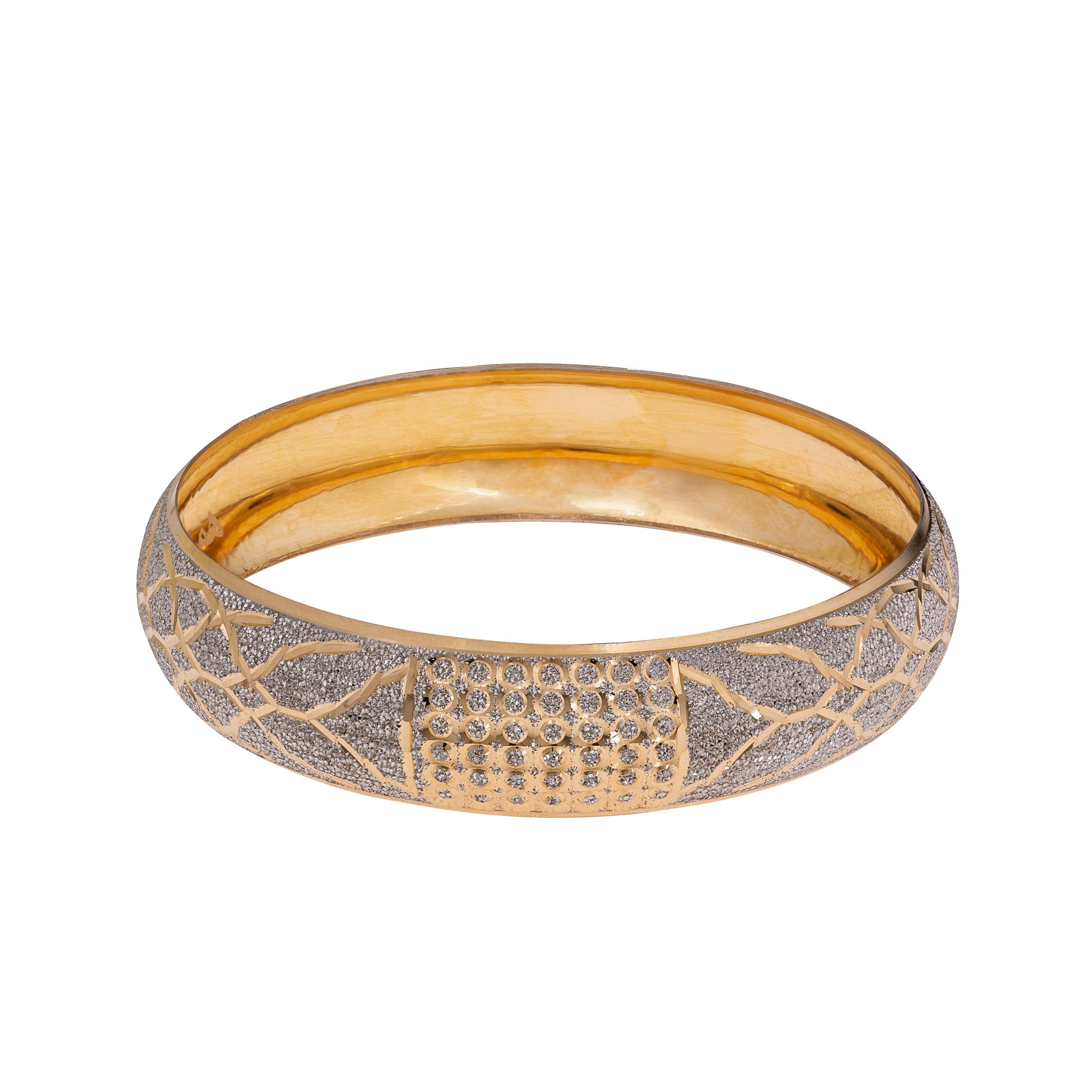 النگو طلا 18 عیار زنانه گالری یارطلا  کد AL34-W-2