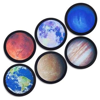 زیر لیوانی طرح Planet مجموعه 6 عددی