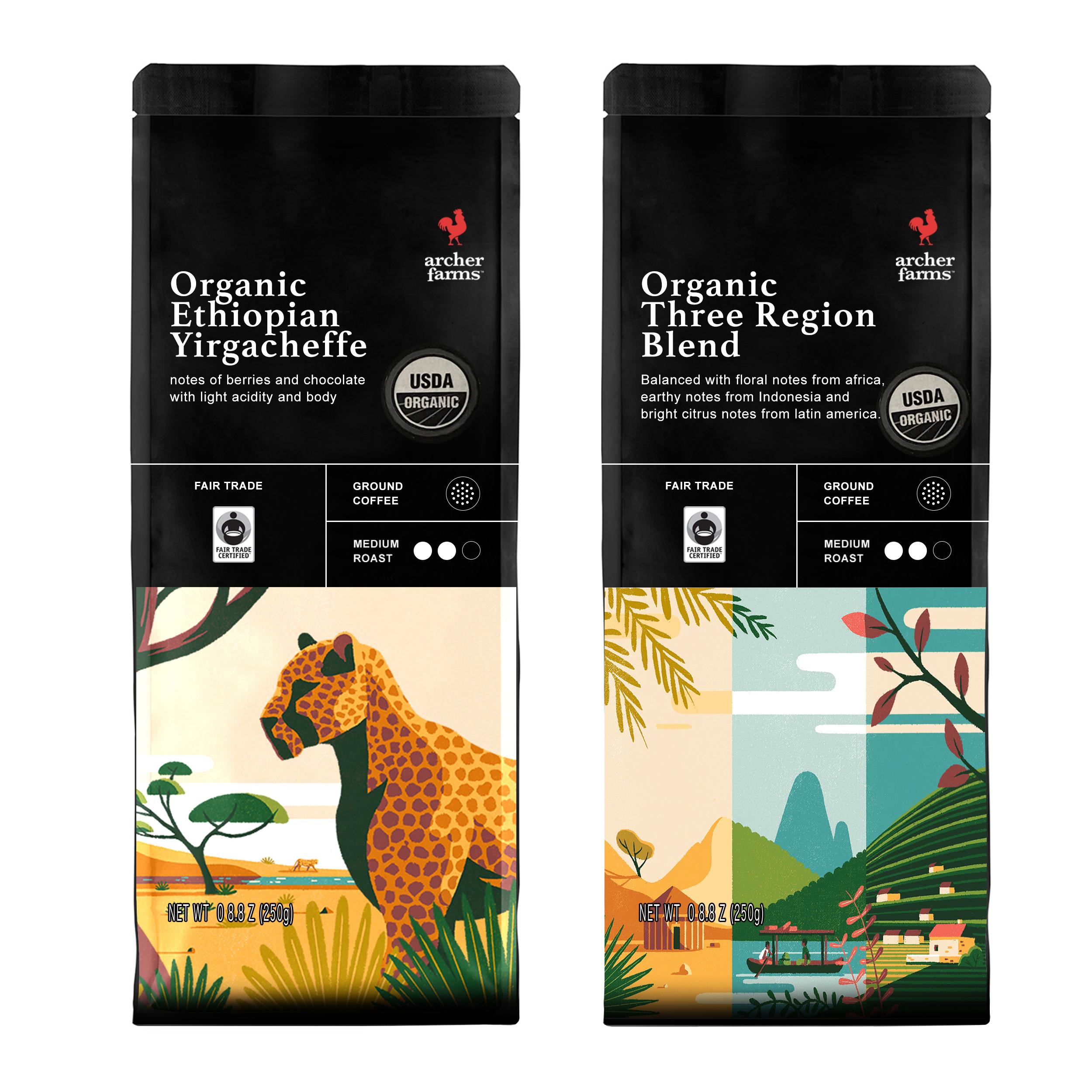 قهوه اتیوپی و سه منطقه آرچر فارمز مجموعه ۲ عددی