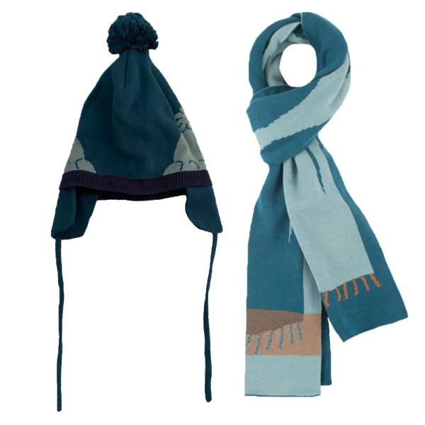 ست کلاه و شال گردن بچگانه جی بی سی کد 070621