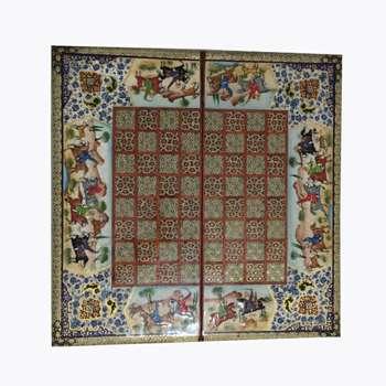 صفحه شطرنج خاتم کاری مدل مینیاتور کد A560
